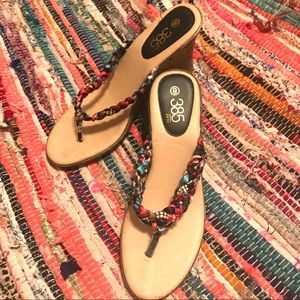 385 FIFTH WEDGE  FESTIVAL SANDALS MULTICOLOR